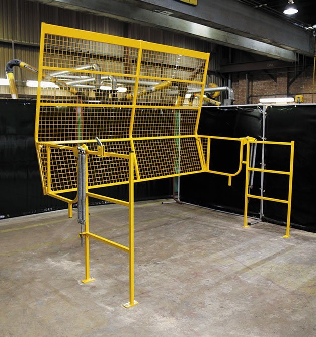 space saving roll over pallet gates