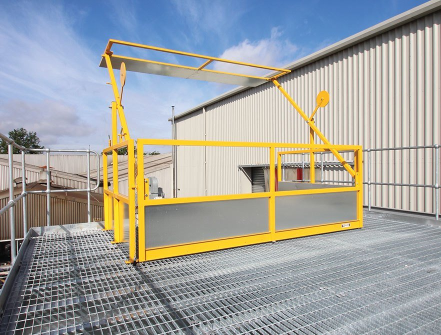 swing arm pallet gates